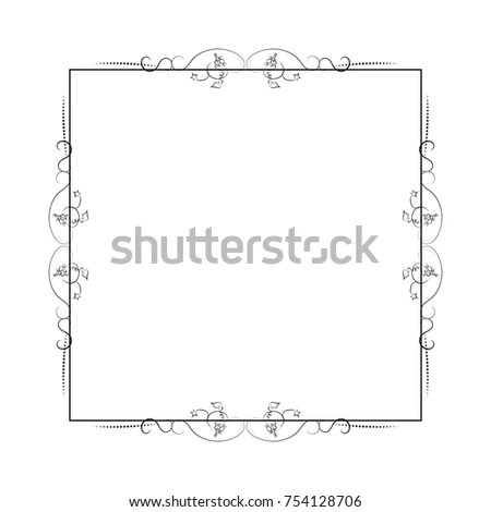 Square Nature Frame Leafs Decorative Vintage Stock Vector (2018 - frame for cards