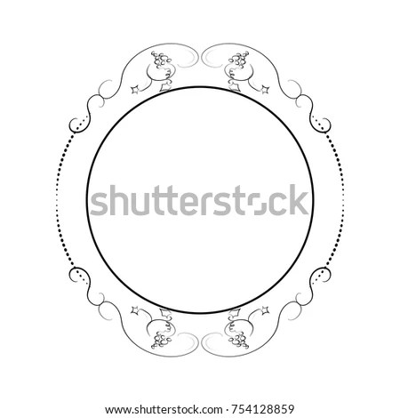 Round Decorative Frame Vintage Hand Drawn Stock Vector (2018 - frame for cards