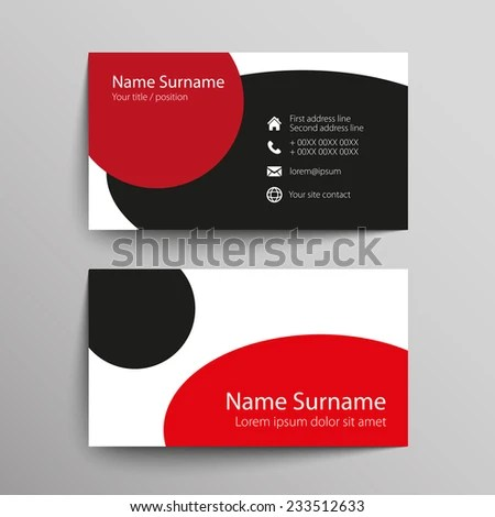 Modern Simple Business Card Template Vector Stock Photo (Photo - name card format