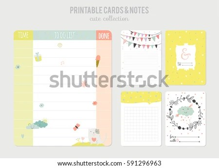 Cute Calendar Daily Planner Template Beautiful Stock Vector HD - daily diary template