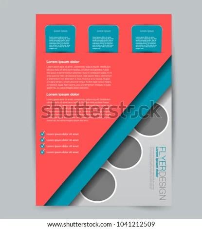 Flyer Template Design Business Education Advertisement Stock Photo