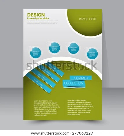 Flyer Template Business Brochure Editable A 4 Stock Vector HD