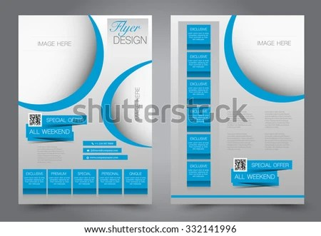 Flyer Template Business Brochure Editable A 4 Stock Vector 332141996