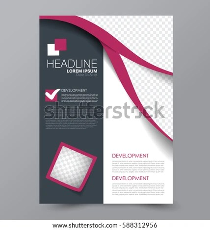 Business Brochure Template Flyer Design Annual Stock Vector (2018
