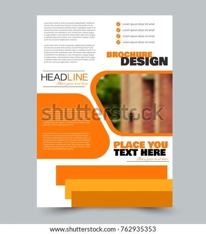 Flyer Template Abstract Brochure Design Vector Stock Vector - flyer template