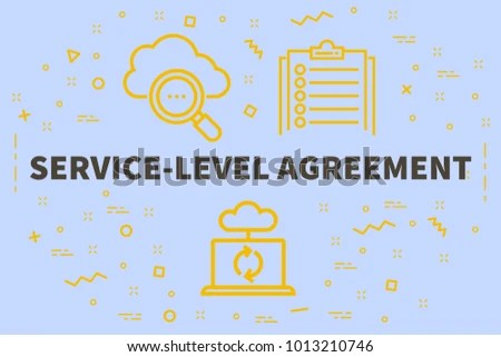 Conceptual Business Illustration Words Servicelevel Agreement Stock