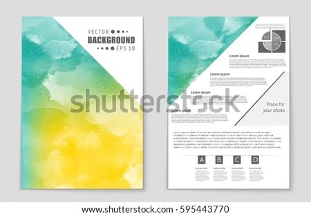 Abstract Vector Layout Background Set Art Stock Vector 595442837 - blank sign in sheet