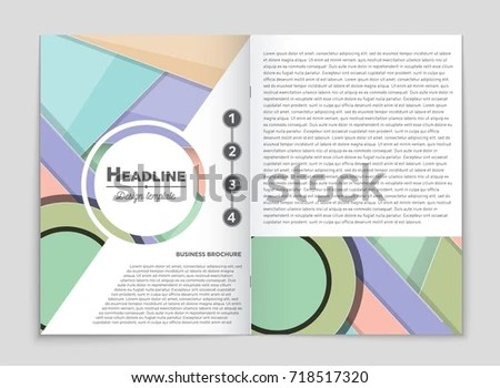 Abstract Vector Layout Background Set Art Stock Vector 721041904 - blank sign in sheet