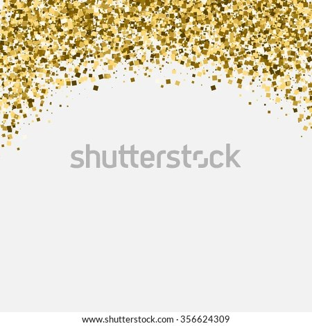 Purple Falling Circles Wallpaper Gold Glitter Shimmery Heading Invitation Card Stock Vector