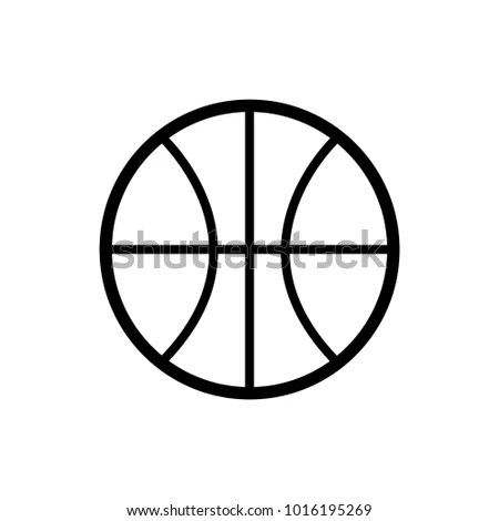 Icon Basketball Template Stock Vector (Royalty Free) 1016195269 - black and white basketball template