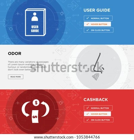 Cashback Odor User Guide Horizontal Webpage Stock Vector HD (Royalty - free user guide template