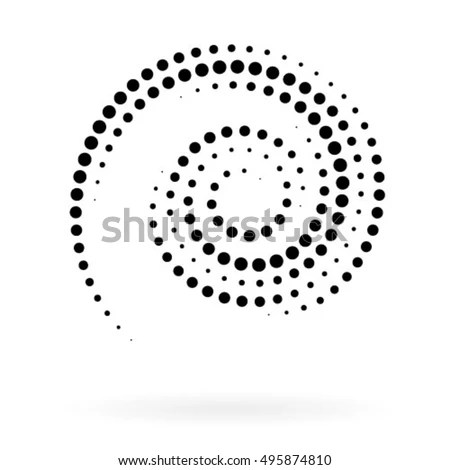 Spiral Vector Illustration Abstract Swirl Form Stock Vector