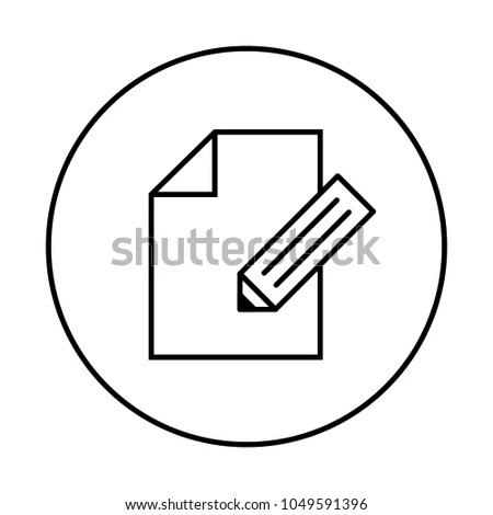 Notebook Blank Document Page Sign Sheet Stock Vector 1049591396