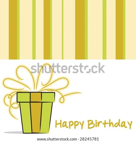 Vector Happy Birthday Card Layout Neutral Stock Vector 28245781 - birthday card layout