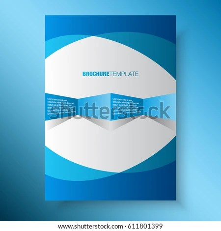 Blue Business Annual Report Template Print Stock Vector 611801399