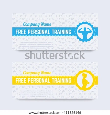 Free Personal Training Gift Voucher Design Stock Vector HD (Royalty