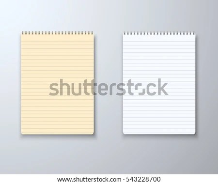 Illustration Realistic Vector Paper Notepad Notebook Stock Vector HD - notepad paper template