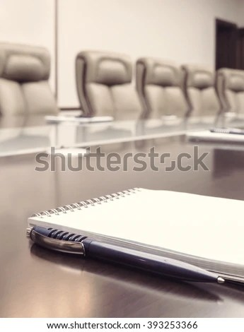 Vertical Notepad Agenda Kept On Table Stock Photo (100 Legal - meeting note pad