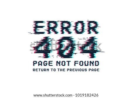 Error 404 Page Not Found Error Stock Vector HD (Royalty Free