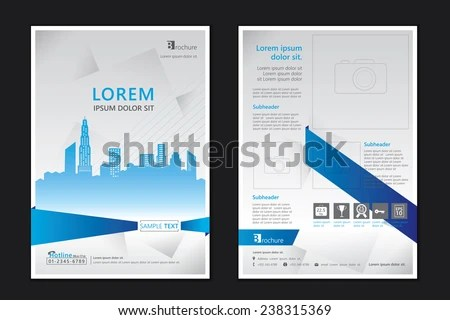 Brochure Template Design Concept Architecture Design Stock Photo - architecture brochure template
