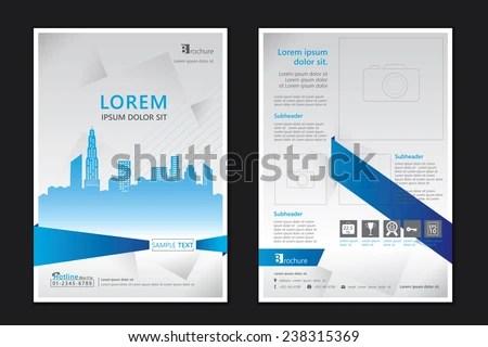 Brochure Template Design Concept Architecture Design Stock Photo