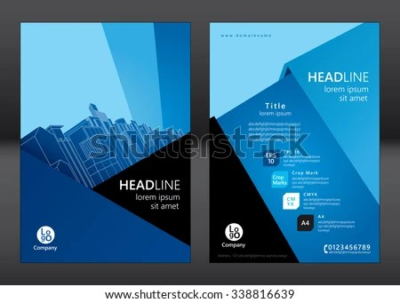 Brochure Template Design Concept Architecture Design Stock Vector - architecture brochure template