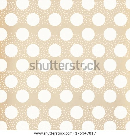 Brown Paper White Dot Background Template Stock Illustration - dot paper template