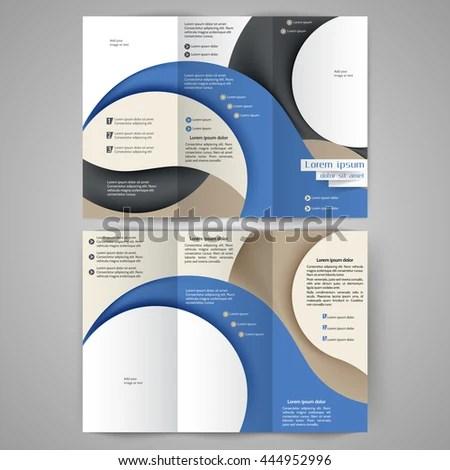 Color Tri Fold Business Brochure Design Stock Vector (2018 - tri fold business brochure