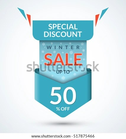 Winter Sale Banner Discount Label Christmas Stock Vector 517875466 - sale tag template