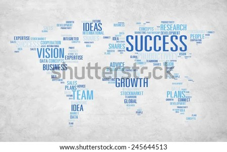 Global Business Communication Plan Strategy Success Stock