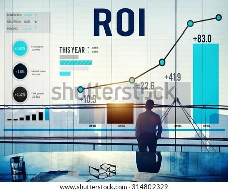 Roi Return On Investment Analysis Finance Stock Photo (Royalty Free