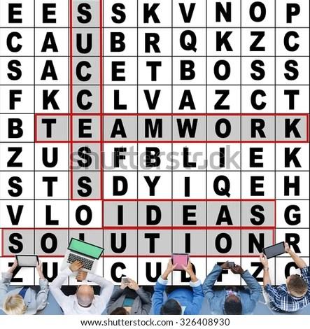 Success Crossword Puzzle Words Achievement Game Stock Photo  Image - words for achievement