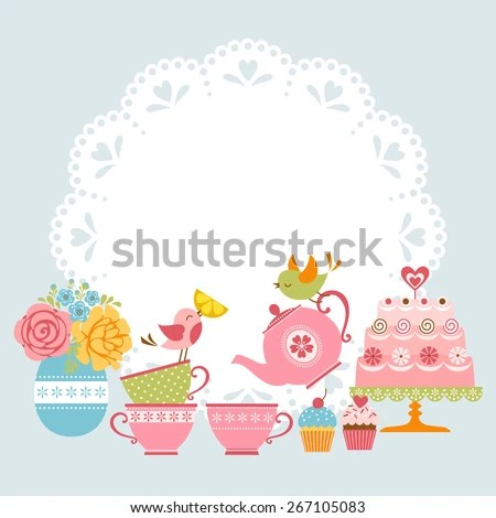 Tea Party Invitation Stock Images, Royalty-Free Images \ Vectors - tea party invitation
