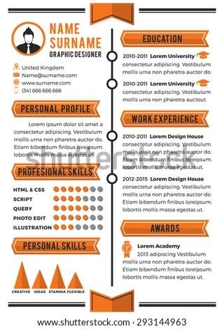 Personal Curriculum Vitae Template Simplicity Professional Stock - personal resume template