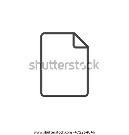 File Line Icon Blank Document Outline Stock Vector HD (Royalty Free - Blank Document Free