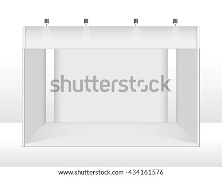Exhibition Stand Design Booth Template White Stock Vector 434161576 - po booth template