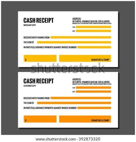 CASH RECEIPT Design Template Stock Vector 392873320 - Shutterstock - money receipt design