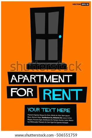 Apartment Rent Poster Banner Board Design Stock Vector HD (Royalty - apartment for rent flyer