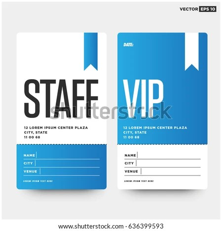 Staff VIP Entry ID Card Design Stock Vector HD (Royalty Free - card design template