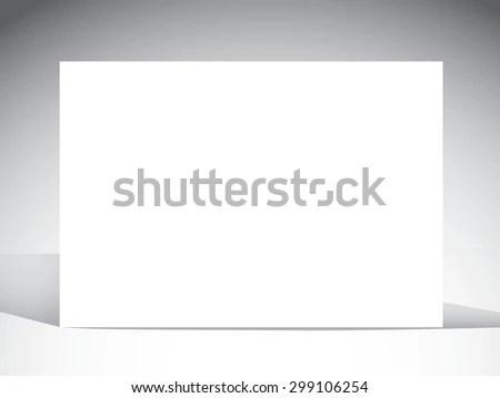 Blank Card Template Light Background Shadows Stock Vector - blank card template