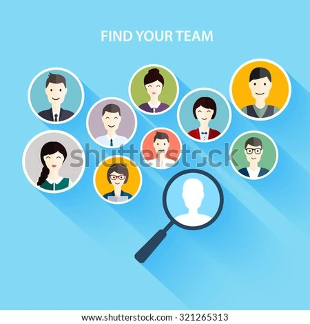 Job Search Career Human Resources Management Stock Vector 321265313 - how to find a head hunter
