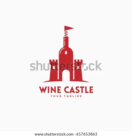 Wine Castle Logo Template Design Bottle Stock Vector 657653863 - wine tag template