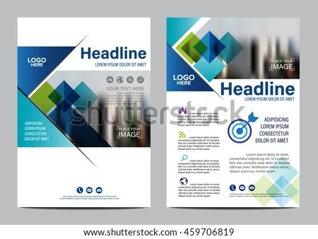 Blue Brochure Layout Design Template Annual Stock Vector (Royalty