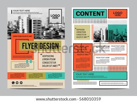 Retro Brochure Layout Design Template Annual Stock Vector (2018 - retro brochure template