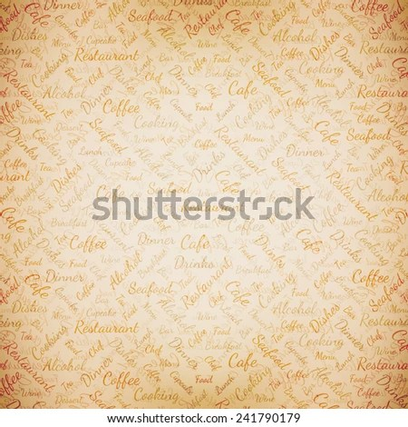 Restaurant Menu Background Stock Vector 241790179 - Shutterstock