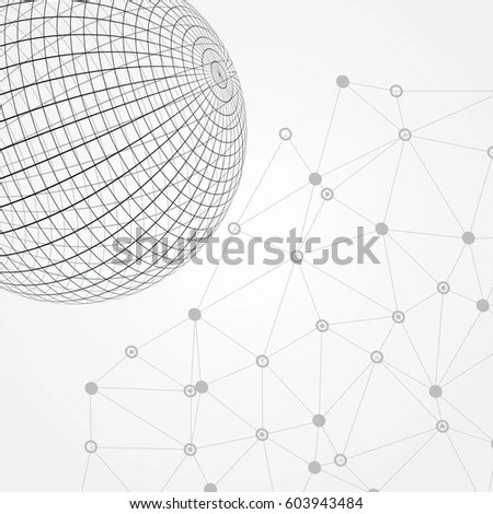 Abstract Wireframe Spherevector Sphere Template Stock Vector