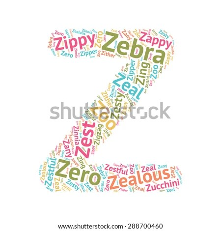 Cute Word Cloud ABC Letters Series Stock Vector 288700460 - Shutterstock - word with the letters