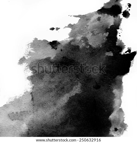 Hand Painted Black Watercolor Background Like Stock Illustration