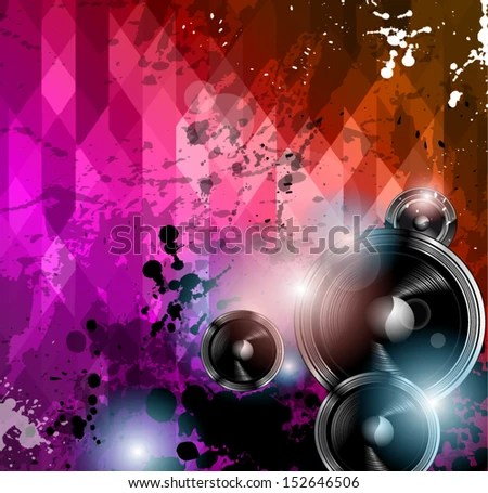 Disco Club Flyer Template Abstract Background Stock Vector HD - club flyer background