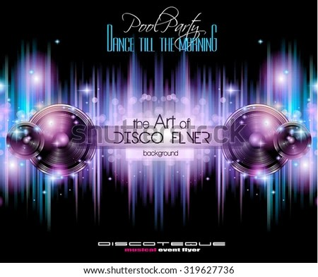 Disco Club Flyer Template Your Music Stock Illustration 319627736 - club flyer background